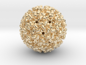 Chikungunya Virus (Various Metals) in 14k Gold Plated Brass