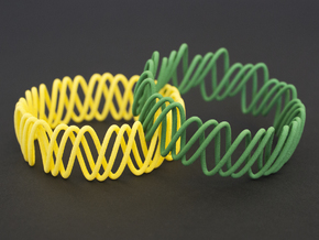 Spring Bracelet in Yellow Processed Versatile Plastic