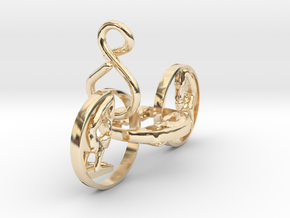 5153figurineearringwithinfinitysign in 14k Gold Plated Brass