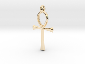 Ankh with hook in 14k Gold Plated Brass