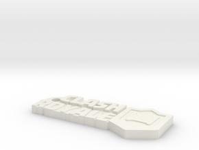 ClashRoyale keychain in White Natural Versatile Plastic