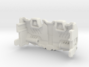 Titans Return Megatron IDW Styled Chestplate in White Natural Versatile Plastic