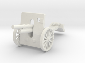 100mm howitzer wz. 1914/19 early 1:87 in White Natural Versatile Plastic