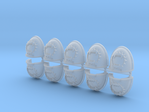 Eaters of Worlds Mk4 shoulder pads x10 in Smooth Fine Detail Plastic
