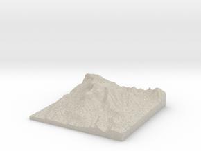 Model of El Capitan in Natural Sandstone