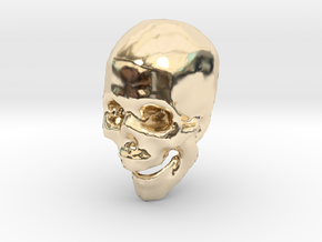 skull hollowed in 14K Yellow Gold