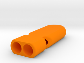 D2 Whistle in Orange Processed Versatile Plastic
