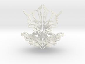Filigree Neck Piece in White Natural Versatile Plastic: Small