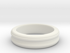 Simple Ring 14.88mm_x_2.001mm_x_5mm in White Natural Versatile Plastic