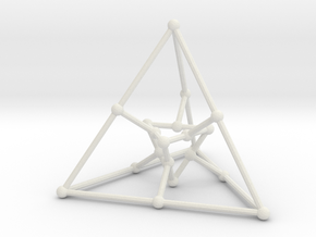 Desargues graph (v. 1) in White Natural Versatile Plastic