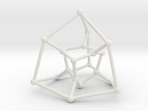 Desargues graph (v. 2) in White Natural Versatile Plastic: Large