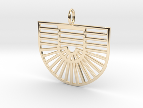 New Greek Flag 1B in 14K Yellow Gold