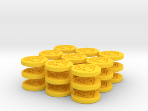Token Malcontent 27P in Yellow Processed Versatile Plastic