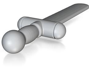 Test Sword (#2) in White Processed Versatile Plastic
