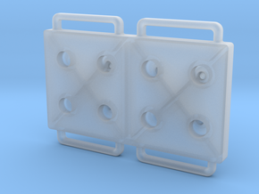 Blister Device End Cap (8 Chamber Version) in Smooth Fine Detail Plastic