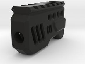 Galactic Muzzle Compensator (14mm Self-Cutting) in Black Natural Versatile Plastic