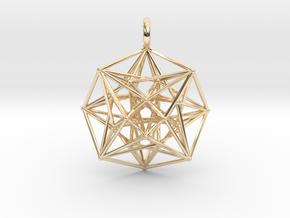 Metatron's Compass 35mm - 4D Vector Equilibrium in 14K Yellow Gold