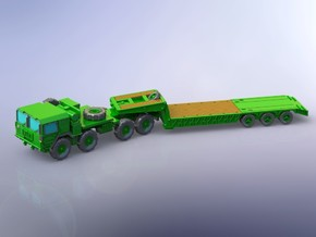 MAN M1014 with M870A1 Semitrailer 1/144 in White Natural Versatile Plastic