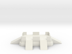 Large Fort Emplacement in White Natural Versatile Plastic