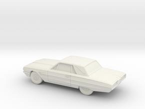 1/64 1964 Ford Thunderbird in White Natural Versatile Plastic