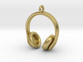 Headphones Jewel in Natural Brass