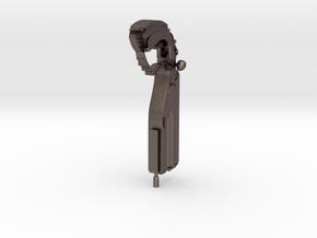 Lato Prime Pistol  in Polished Bronzed-Silver Steel: Small