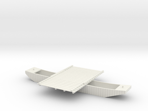 PONTOON BOAT DEPLOYED in White Natural Versatile Plastic