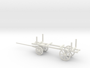 PONTOON WAGON in White Natural Versatile Plastic