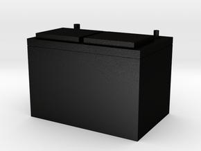 A Standard style battery in 1/10 scale in Matte Black Steel