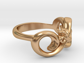 Style Ring. in Polished Bronze: 7 / 54