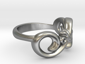 Style Ring. in Natural Silver: 7 / 54