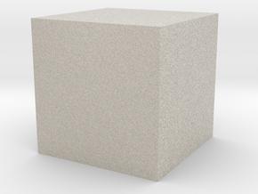3D printed Sample Model Cube 1.95cm in Natural Sandstone