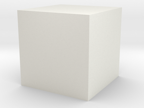 3D printed Sample Model Cube 0.5cm in White Natural Versatile Plastic