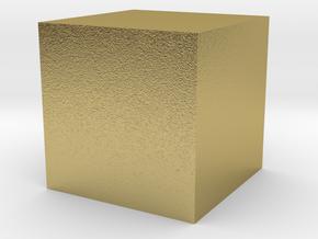 3D printed Sample Model Cube 0.5cm in Natural Brass