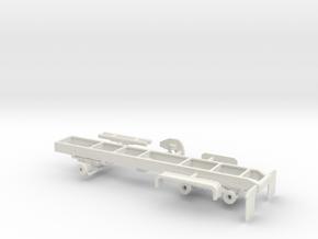1/50 Oshkosh 6x6 Heavy Short Truck Frame in White Natural Versatile Plastic
