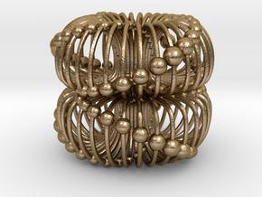 Double Torus 40mm Electromagnetic Field in Polished Gold Steel