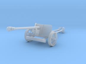 1/160 n-scale Pak40 german anti tank gun WW2 in Smooth Fine Detail Plastic