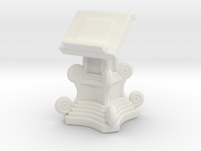Lectern Book Stand A in White Natural Versatile Plastic