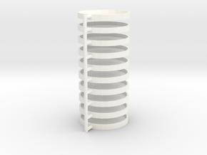 TTRPG Condition Bases 10 pcs in White Processed Versatile Plastic