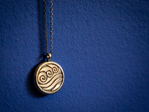 Avatar: The Last Airbender Water Tribe Necklace in Polished Silver