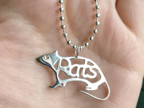Rats pendant - Precious in Polished Silver