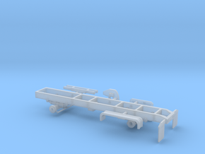 1/64th Oshkosh single axle 4x4 truck frame chassis in Smooth Fine Detail Plastic