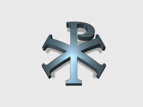 60x Chi Rho : Shoulder Insignia pack in Smooth Fine Detail Plastic
