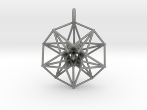 5d hypercube toroidal projection -37mm  in Gray PA12: Small