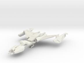 Klingon Vor'lor Class WarDestroyer in White Natural Versatile Plastic