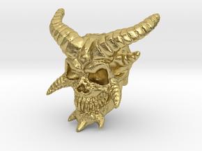 Demon Skull v2  in Natural Brass