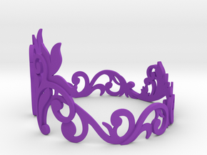 Bracelet in Purple Processed Versatile Plastic: Medium