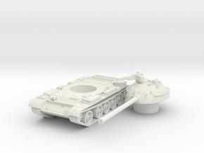T 54 tank scale 1/100 in White Natural Versatile Plastic