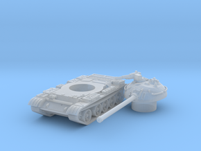 T 54 tank scale 1/144 in Smooth Fine Detail Plastic