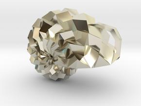 ORI*Universe Origami Pendant in 14k White Gold